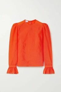 Beaufille - Maiolino Ruffled Stretch-crepe Blouse - Orange
