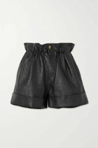 Miu Miu - Leather Shorts - Black