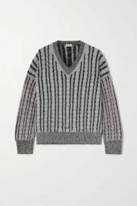 Loewe - Cable-knit Wool Sweater - Gray
