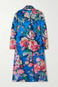 Dries Van Noten - Ruberta Floral-jacquard Coat - Blue