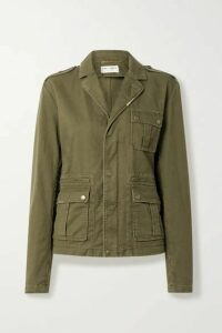 SAINT LAURENT - Cotton And Ramie-blend Drill Jacket - Army green