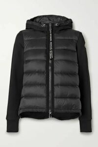 Moncler - Quilted Shell And Cotton-blend Jersey Down Jacket - Black