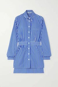 Prada - Striped Cotton-poplin Shirt - Blue