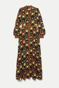 Temperley London - Rosella Printed Crepe Maxi Dress - Black