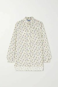 Prada - Printed Cotton-poplin Shirt - Ivory