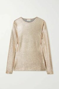 Dries Van Noten - Hatrip Stretch-lamé Top - Gold