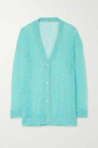 Miu Miu - Sequined Mohair-blend Cardigan - Blue