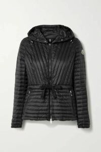 Moncler - Orchidee Grosgrain-trimmed Hooded Quilted Shell Down Jacket - Black