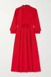 Prada - Pleated Shirred Crepe Midi Dress - IT50
