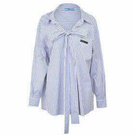 Prada Stripe Tie Shirt