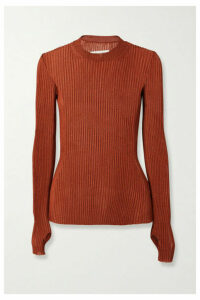 Maison Margiela - Metallic Ribbed-knit Sweater - Copper