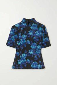 Richard Quinn - Floral-print Crepe Top - Blue