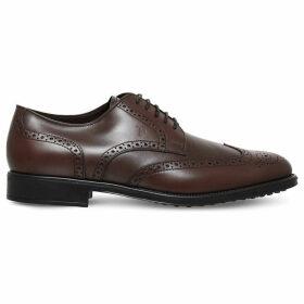 Tods Brogued leather derby shoes, Mens, Size: EUR 43 / 9 UK MEN, Brown