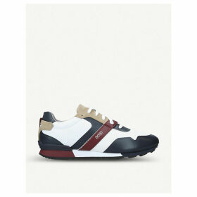 Parkour mixed leather and nylon trainers