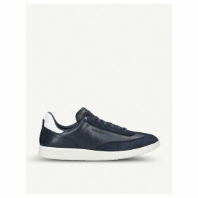 Grandpro Turf leather and suede trainers
