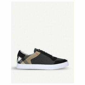 Reeth leather and suede low-top trainers