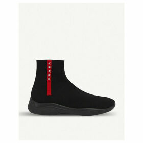 America's Cup stretch-knit high-top trainers
