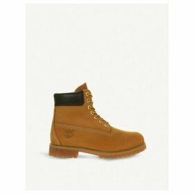 "Buck 6"" nubuck leather boots"