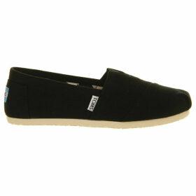 Toms Mens Black Classic Canvas Shoes, Size: EUR 41 / 7 UK MEN