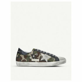 Superstar camo leather trainers