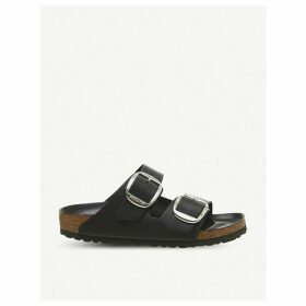 Arizona two-strap faux-leather sandals