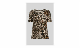 Leopard Print Rosa Tshirt