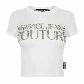Versace Jeans Couture VJC Crystal Crop Tee Ld01