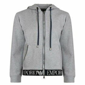 Emporio Armani Tape Zip Hooded Sweatshirt