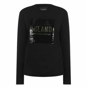 Emporio Armani Sequin Long Sleeve T Shirt