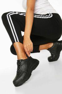 Womens Chunky Platform Trainers - black - 7, Black