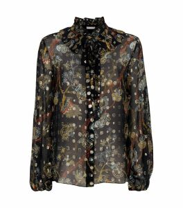Metallic Sheer Silk Shirt