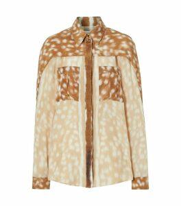 Deer Print Silk Shirt