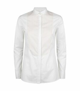 Stretch-Cotton Panelled Shirt