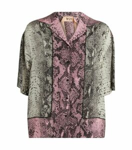 Silk Snakeskin Print Shirt