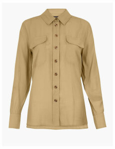 M&S Collection Button Detailed Utility Shirt