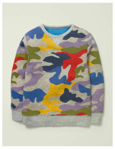 Cosy Sweatshirt Multi Women Boden, Grey
