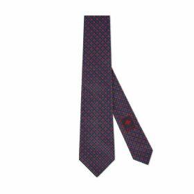 GG and shamrocks silk tie