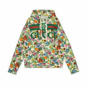 Pop Flora print hooded sweatshirt