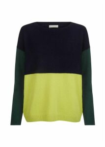 Sofia Wool Blend Sweater Navy Multi