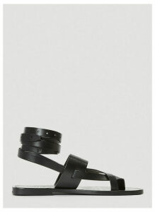 Saint Laurent Cross-Strap Sandals in Black size EU - 39
