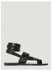Saint Laurent Cross-Strap Sandals in Black size EU - 40