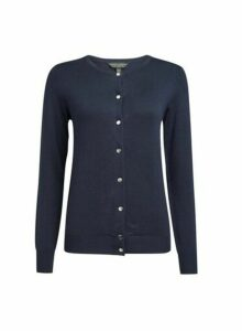 Womens Navy Core Cardigan, Navy