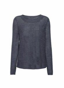 Womens **Only Navy Long Sleeve Top- Blue, Blue