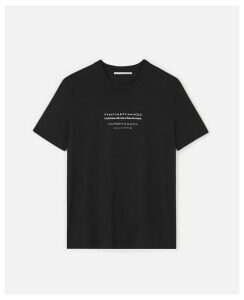 Stella McCartney Black Fortune Cookie T-shirt, Women's, Size L