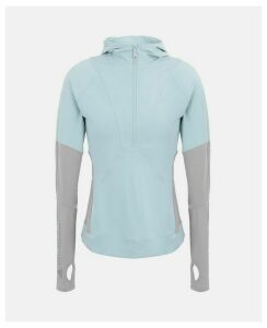 Stella McCartney Blue Blue Long-Sleeved Running Hoodie, Women's, Size L