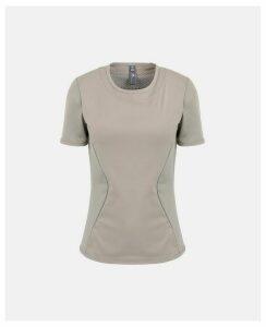 Stella McCartney GREY Grey Performance Essentials T-shirt, Women's, Size L