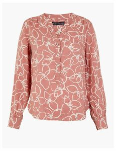 M&S Collection Floral Print Popover Blouse