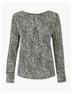 M&S Collection Printed Print Blouse