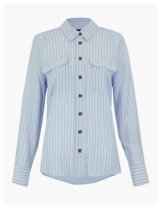 M&S Collection Striped Utility Shirt