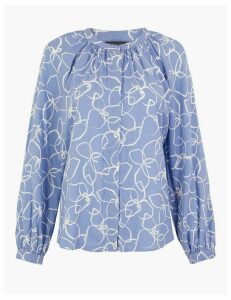 M&S Collection Printed Relaxed Fit Blouse